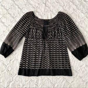 BCBGMaxAzria   Black/White Blouse Top
